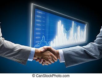 comunicação, diagrama, negócio, fundo, conceitos, emprego, amigos, amigável, incorporado, acordo, amizade, homem negócios, chance, negócio, pretas, comércio, começos, exposição, escuro, finanças