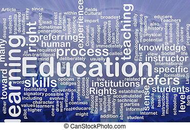 conceito, educação, fundo