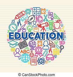 conceito, educação, ilustração
