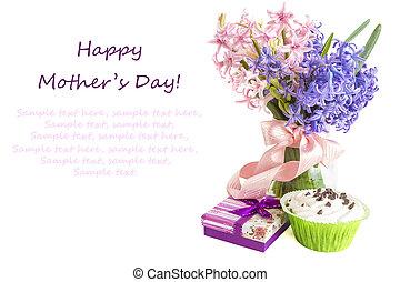 conceito, flores, dia, mãe