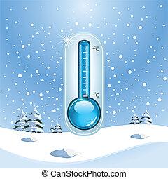 conceito, inverno, congelar