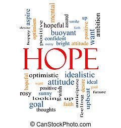 conceito, palavra, esperança, nuvem