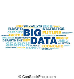 conceito, palavra, grande, tag, dados, nuvem