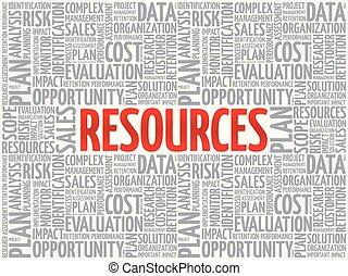 conceito, palavra, nuvem, recursos, tag