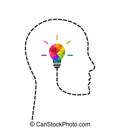conceito, pensando, criativo, cabeça