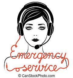 conceito, serviço emergência