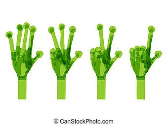 conceito, set., ecologia, verde, mãos, desenho, seu