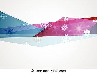 conceito, tech, inverno, fundo, natal