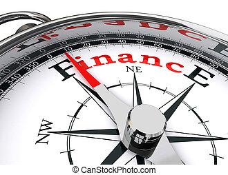 conceitual, finanças, compasso