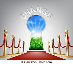 conceitual, mudança, ilustração