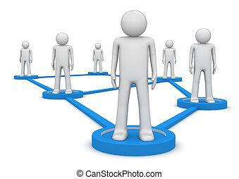 concept., pessoas, isolated., conectado, social, series., pedestais, rede, ficar, 1000+, caráteres, lines., um