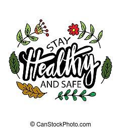 concept., saudável, cofre aluguel., ficar, slogan