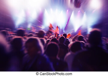 concerto música, pessoas
