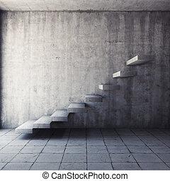concreto, abstratos, escadaria