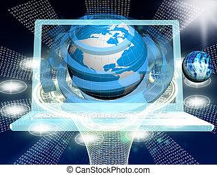 conexão, tecnologia computador, inovador