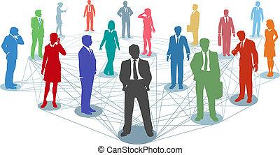 conexões, pessoas, rede, negócio, ligar