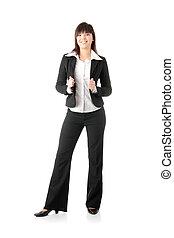 confiante, negócio mulher