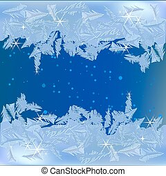 congelado, janela, geada
