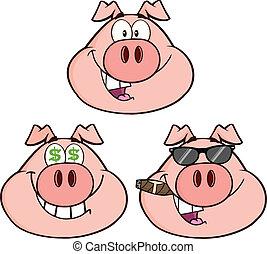 conjunto cabeça, cobrança, porca, 2