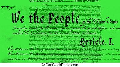 constituição, escrito, 4k, estados unidos
