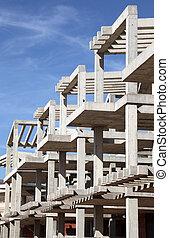 construção casa, apartamento, modernos, sob