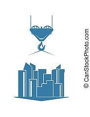 construção urbana, silueta
