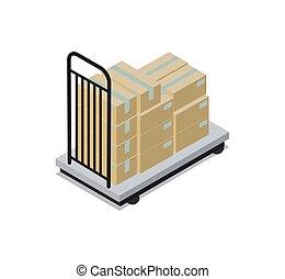construção, vetorial, transporte, ilustração