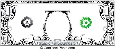 conta, dólar