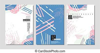 contemporâneo, desenho, conceito, cobertura