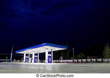 conveniência, estação, gás, loja, varejo