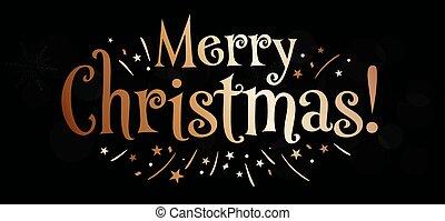 convite, cartão, feliz, desenho, natal, lettering, saudação