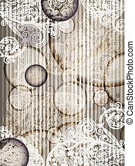 convite, vetorial, listras, 10, padrão floral, abstratos, modelo, eps, grunge, esguichos