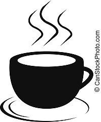 copo, café, vetorial, ícone