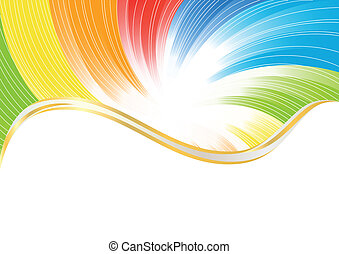 cor, abstratos, vetorial, luminoso, fundo