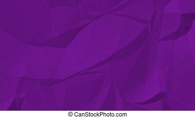 cor, amarrotado, roxo, sombra, papel, enrugado