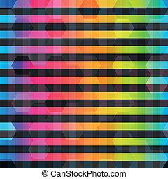 cor, arco íris, linhas, seamless, padrão