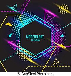 cor, arte moderna, fundo