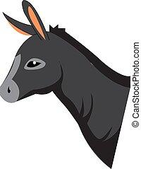 cor, burro, vetorial, ou, illustration.