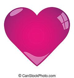 cor-de-rosa, coração, ilustração