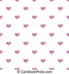 cor-de-rosa, coração, seamless, fundo, branca, brilhar