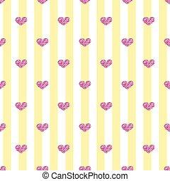 cor-de-rosa, coração, seamless, listra, fundo, brilhar