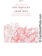 cor-de-rosa, floral, vetorial, fundo