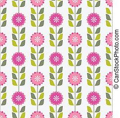 cor-de-rosa, flores mola, padrão