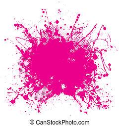 cor-de-rosa, grunge, splat