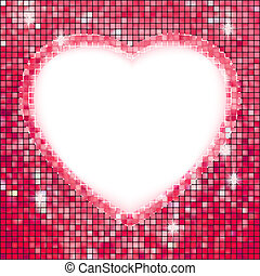cor-de-rosa, heart., quadro, eps, forma, 8