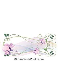 cor-de-rosa, lírios, guirlanda