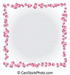 cor-de-rosa levantou-se, quadro, petals.