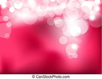 cor-de-rosa, luzes, abstratos, glowing