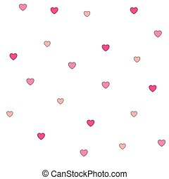 cor-de-rosa, padrão, polca, seamless, corações, ponto