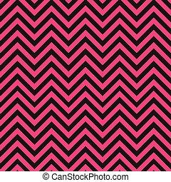 cor-de-rosa, padrão, pretas, chevron
